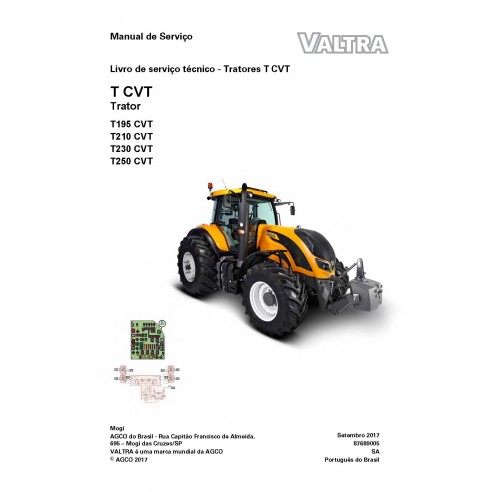 Valtra T195, T210, T230, T250 CVT Tracteur PDF Livre de service technique - Valtra manuels