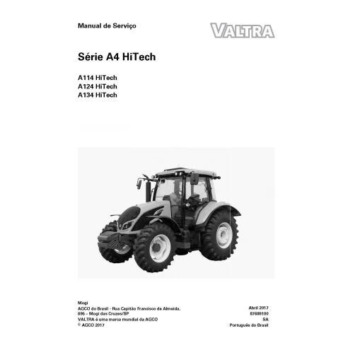 Valtra A114, A124, A134 HiTech tracteur manuel de service d'atelier pdf PT - Valtra manuels