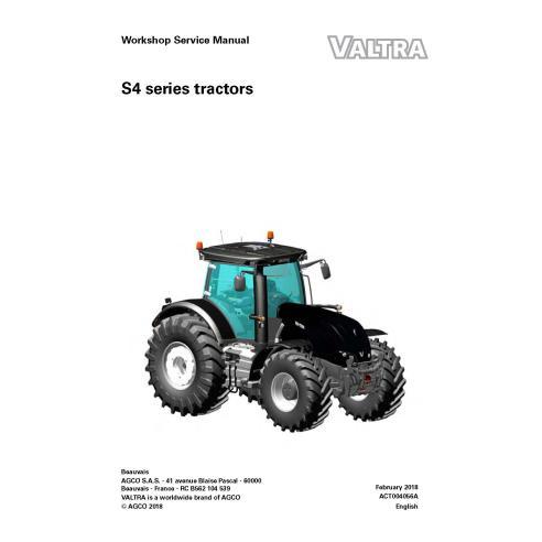 Valtra S274, S294, S324, S354, S374, S394 tractor pdf taller manual de servicio - Valtra manuales