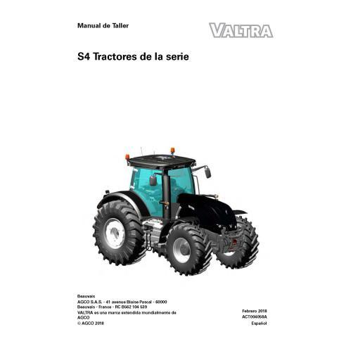 Valtra S274, S294, S324, S354, S374, S394 tracteur manuel de service d'atelier pdf ES - Valtra manuels
