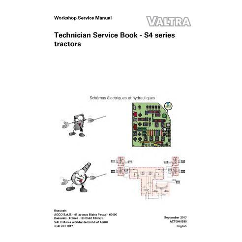 Libro de servicio técnico del tractor Valtra S274, S294, S324, S354, S374, S394 - Valtra manuales
