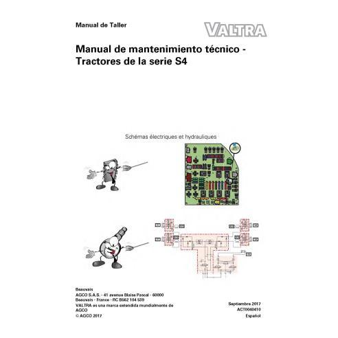 Valtra S274, S294, S324, S354, S374, S394 tractor pdf libro de servicio técnico ES - Valtra manuales