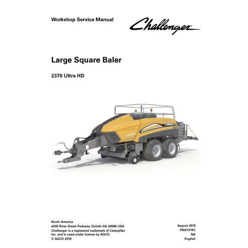 Challenger 2370 Ultra HD baler pdf workshop service manual  - Challenger manuals