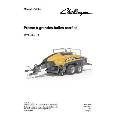 Challenger 2370 Ultra HD enfardadeira pdf manual de serviço de oficina FR - Challenger manuais