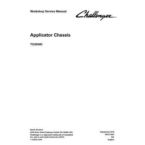 Manuel d'entretien de l'atelier PDF du châssis de l'applicateur Challenger TG9300C - Challenger manuels