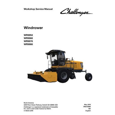 Challenger WR9950, WR9960, WR9970, WR9980 self-propelled windrower pdf workshop service manual  - Challenger manuals