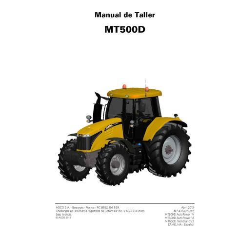 Challenger MT515D, MT525D, MT535D, MT545D, MT555D, MT565D, MT575D, MT585D, MT595D tractor pdf taller manual de servicio ES - ...