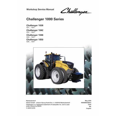 Challenger 1038, 1042, 1046, 1050 tractor pdf taller manual de servicio - Challenger manuales