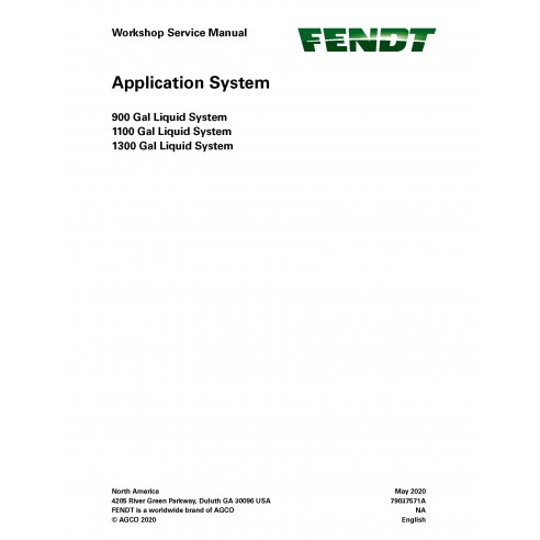 Fendt 900, 1100, 1300 Gal application system pdf workshop service manual  - Fendt manuals