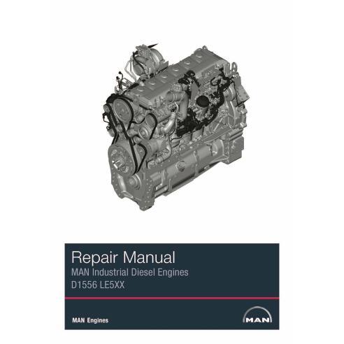 MAN D1556 LE5XX motor diesel industrial manual de serviço de oficina em pdf - Man manuais