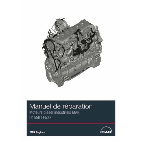 MAN D1556 LE5XX Motor diesel industrial pdf manual de servicio de taller FR - Man manuales