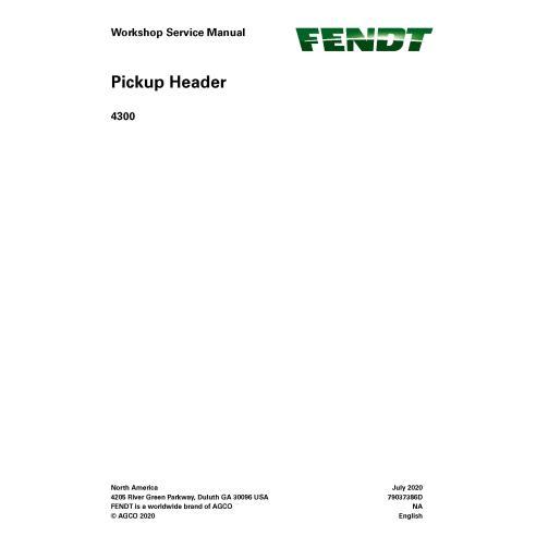 Manuel d'entretien de l'atelier PDF de l'en-tête de ramassage Fendt 4300 - Fendt manuels