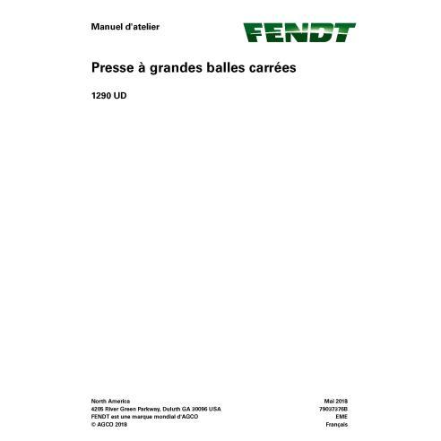 Empacadora Fendt 1290 UD pdf manual de servicio de taller FR - Fendt manuales