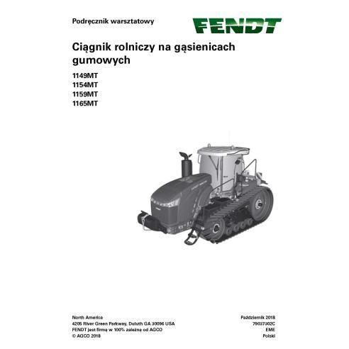 Fendt 1149MT, 1154MT, 1159MT, 1165MT rubber track tractor pdf workshop service manual PL - Fendt manuals