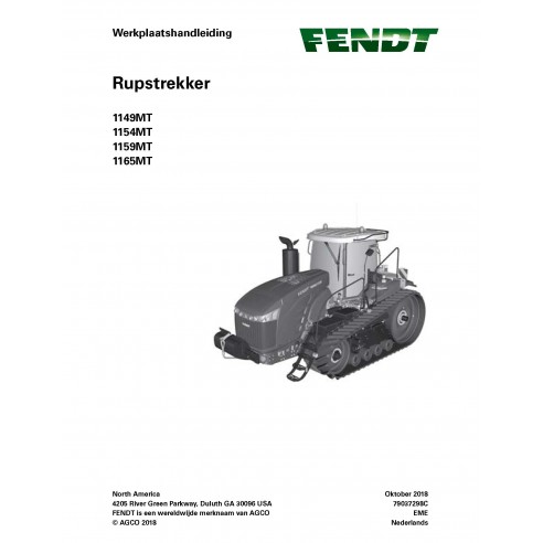 Fendt 1149MT, 1154MT, 1159MT, 1165MT rubber track tractor pdf workshop service manual NL - Fendt manuals