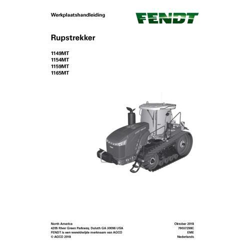 Fendt 1149MT, 1154MT, 1159MT, 1165MT tracteur à chenilles en caoutchouc manuel de service d'atelier pdf NL - Fendt manuels