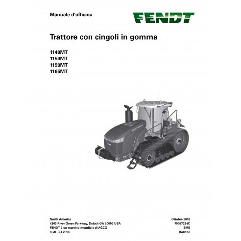 Fendt 1149MT, 1154MT, 1159MT, 1165MT tractor de orugas de caucho pdf taller manual de servicio IT - Fendt manuales