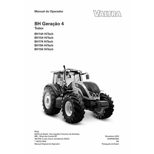 Valtra BH144, BH154, BH174, BH194, BH214 HiTech tractor pdf manual del operador PT - Valtra manuales