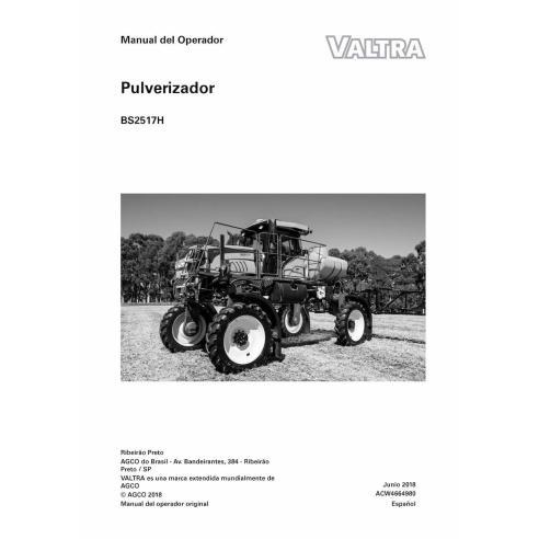 Pulverizador autopropulsado Valtra BS2517H manual del operador en pdf ES - Valtra manuales