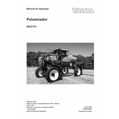 Valtra BS2517H self-propelled sprayer pdf operator's manual PT - Valtra manuals