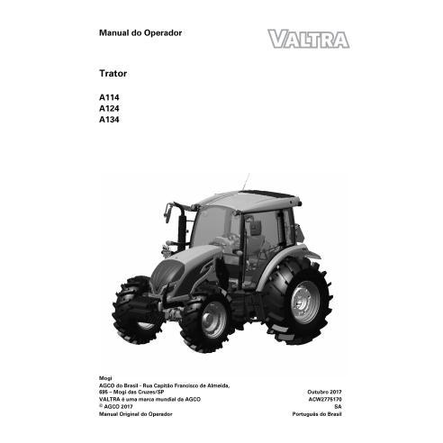 Valtra A114, A124, A134 tractor pdf operator's manual PT - Valtra manuals