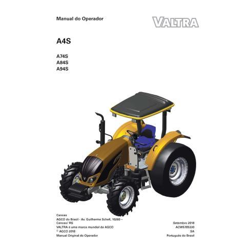 Manual do operador em pdf do trator Valtra A74S, A84S, A94S PT - Valtra manuais