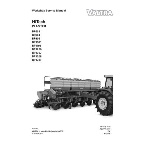 Valtra BP603, BP804, BP905, BP1005, BP1106, BP1206, BP1307, BP1508, BP1709 manual de serviço de oficina em PDF para plantador...