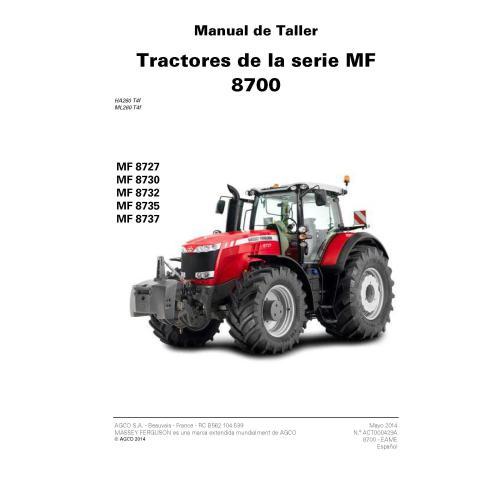 Massey Ferguson MF 8727, MF 8730, MF 8735, MF 8737 tractor pdf taller manual de servicio ES - Massey Ferguson manuales