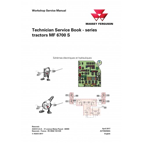 Massey Ferguson MF 6712 S, 6713 S, 6714 S, 6715 S, 6716 S, 6718 S tractor pdf technical service book  - Massey Ferguson manuals