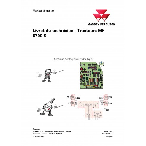 Massey Ferguson MF 6712 S, 6713 S, 6714 S, 6715 S, 6716 S, 6718 S trator pdf livro de serviço técnico FR - Massey Ferguson ma...