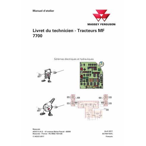 Massey Ferguson MF 7714, 7715, 7716, 7718, 7719, 7720, 7722, 7724, 7726 trator pdf livro de serviço técnico FR - Massey Fergu...