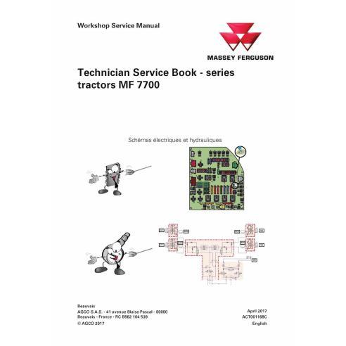 Massey Ferguson MF 7714, 7715, 7716, 7718, 7719, 7720, 7722, 7724, 7726 tractor pdf technical service book  - Massey Ferguson...