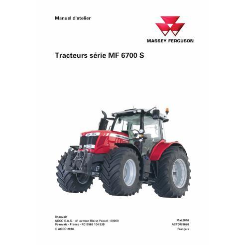 Massey Ferguson MF 6712 S, 6713 S, 6714 S, 6715 S, 6716 S, 6718 S tractor pdf workshop service manual FR - Massey Ferguson ma...