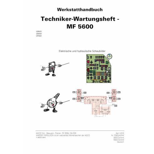 Massey Ferguson MF 5608, 5609, 5610, 5611, 5612, 5613 Tracteur PDF Livre de service technique DE - Massey Ferguson manuels