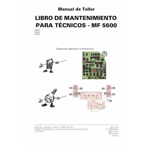 Massey Ferguson MF 5608, 5609, 5610, 5611, 5612, 5613 Tracteur PDF Livre de service technique ES - Massey Ferguson manuels