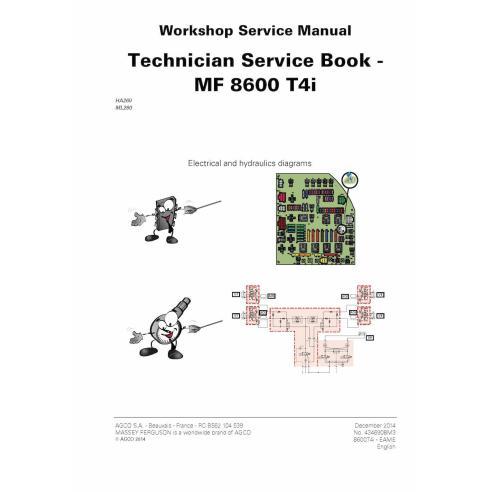 Livre de service technique du tracteur Massey Ferguson MF 8650, 8660, 8670, 8680, 8690 T4i PDF - Massey Ferguson manuels
