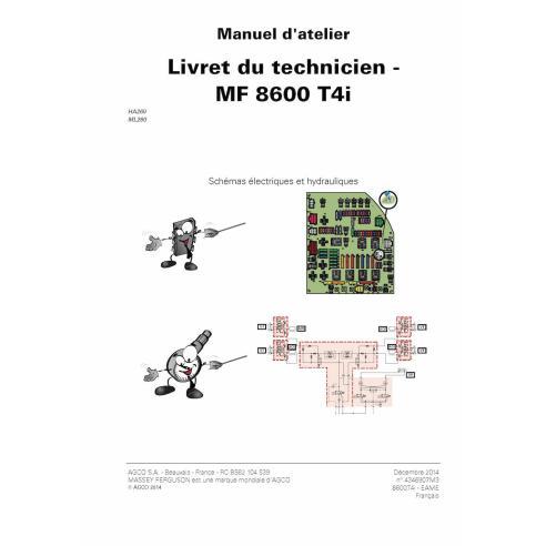 Massey Ferguson MF 8650, 8660, 8670, 8680, 8690 T4i trator pdf livro de serviço técnico FR - Massey Ferguson manuais