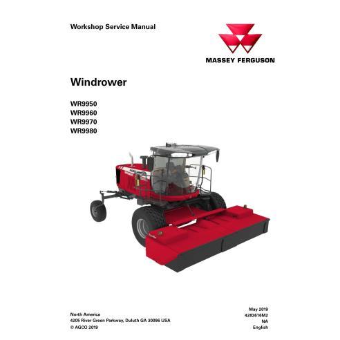 Massey Ferguson WR9950, WR9960, WR9970, WR9980 windrower automotriz manual de serviço em pdf - Massey Ferguson manuais