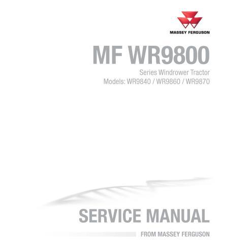 Massey Ferguson WR9840. WR9860, WR9870 manuel d'entretien pdf de l'andaineuse automotrice - Massey Ferguson manuels