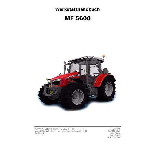 Massey Ferguson MF 5608, 5609, 5610, 5611, 5612, 5613 tractor pdf taller manual de servicio DE - Massey Ferguson manuales