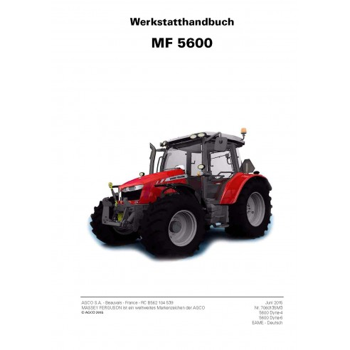 Massey Ferguson MF 5608, 5609, 5610, 5611, 5612, 5613 tractor pdf workshop service manual DE - Massey Ferguson manuals