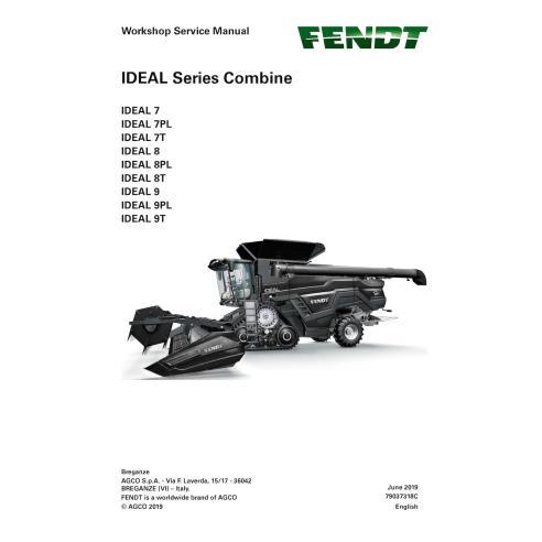 Fendt IDEAL SERIES 7 / 8 / 9 combine workshop service manual - Fendt manuals