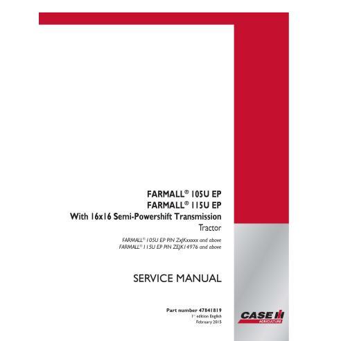 Manuel d'entretien du tracteur Case IH Farmall 105U, 115U PDF - Case IH manuels