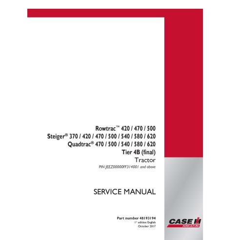 Case IH Rowtrac 420, 470, 500, Steiger 370 - 620 Quadtrac 470 - 620 Tier 4B PIN JEEZ00000FF314001 + manual de serviço pdf do ...