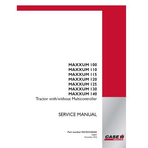 Manual de serviço pdf do trator Case IH MAXXUM 100, 110, 115, 120, 125, 130, 140 - Case IH manuais