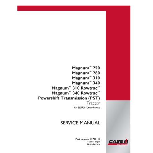 Case IH MAGNUM 250, 280, 310, 340, 310 - 340 Rowtrac PST PIN ZERF08100 + manual de serviço pdf do trator - Case IH manuais