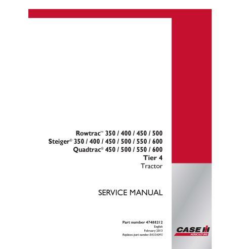 Manual de serviço em pdf de trator Case IH Rowtrac 350-500, Steiger 350-600, Quadtrac 450-600 Tier 4 - Case IH manuais