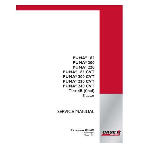 Case IH Puma 185, 200, 220, 240 CVT Tier 4B tractor pdf service manual  - Case IH manuals