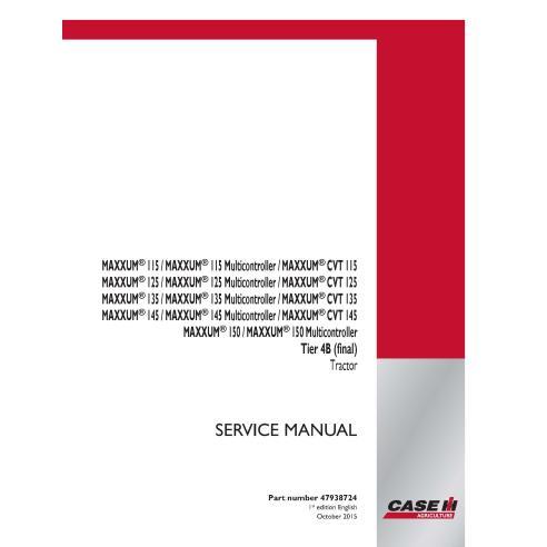 Manual de serviço em pdf Case IH MAXXUM 115, 125, 135, 145, 150 CVT Tier 4B para trator - Case IH manuais