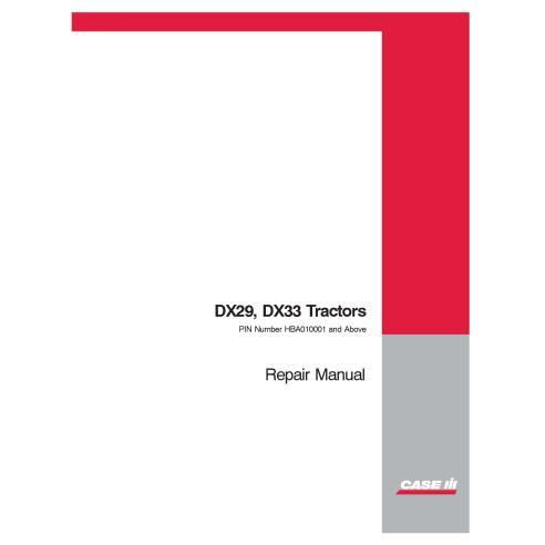 Case IH DX29, DX33 tractor manual de reparación pdf - Case IH manuales